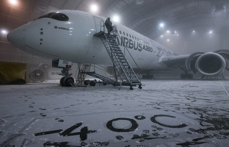 Airbus A350-XWB Cold Weather Testing